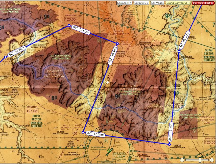 Possible Grand Canyon VFR route