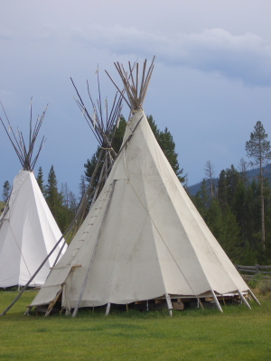 Smiley Creek teepee
