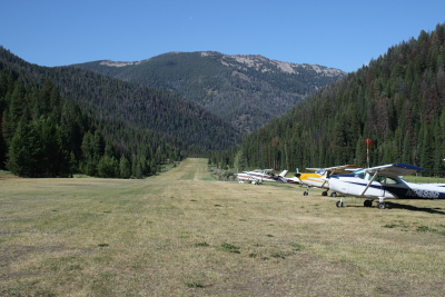 Big Creek Airstrip looking north