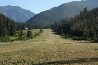 Big Creek Airstrip looking south