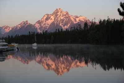 Tetons from Colter Bay Marina
