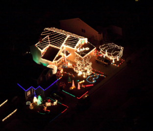 Xmas House Lights Aerial
