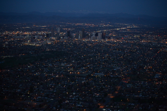 Denver Sunrise Aerial 25 min before sunrise
